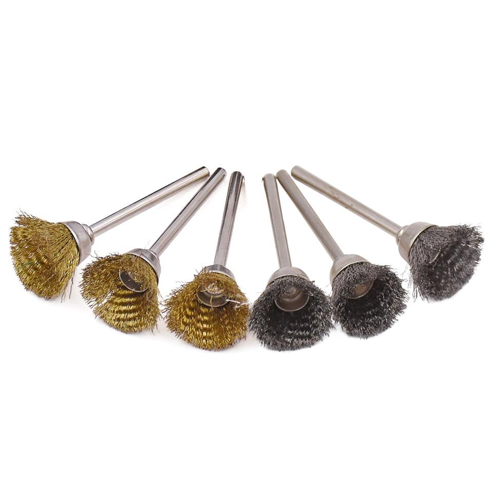 20ks pro Dremel Abrasive Accessories 3.0mm Shank Steel Copper Wire - Brusné nástroje - Fotografie 2