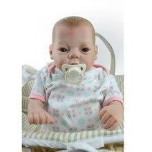 New 22 Inch 55cm Lifelike Full body Girl Doll Dolls Reborn Realistic Babies Bebe  Kids Birthday Gift Juguetes Brinquedos