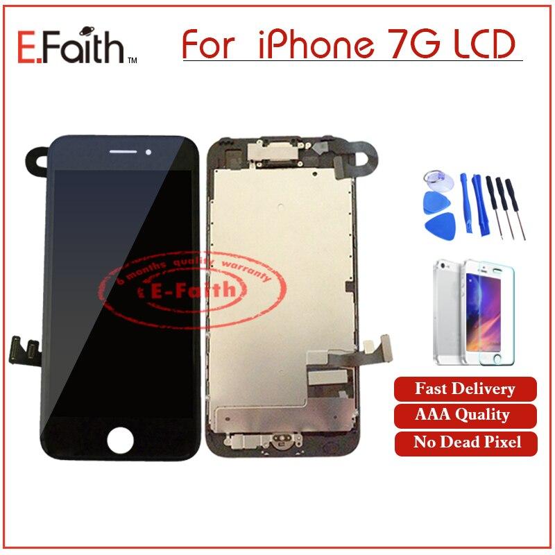 imágenes para AAA de fe DisplayFor iPhone 7 LCD Con Cámara Frontal y Homebutton pantalla Completa Set Asamblea Display + Regalo y Envío Libre