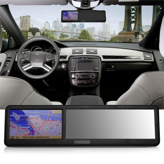 free shipping new Black 4.3 inch HD touch screen Rearview Mirror ABS Car GPS Navigation Navigator Bluetooth 2.0 8GB AU Map tk102