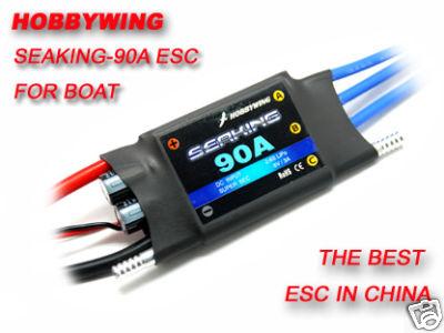 Hobbywing Seaking-90A sans balai ESC pour Version2.0 de bateauHobbywing Seaking-90A sans balai ESC pour Version2.0 de bateau