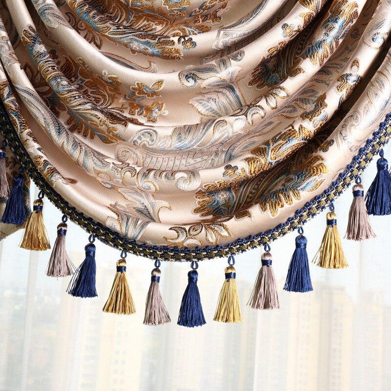 Европейская штора Кружева Висячие Спайк ленты Висячие шар занавес отделка гостиной украшения Аксессуары