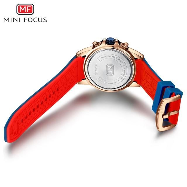 MINIFOCUS Sport Wrist Watch Men Luxury Waterproof Relogio Masculino Fashion Brand Military Men's Wristwatch Quartz Silicone Blue 5