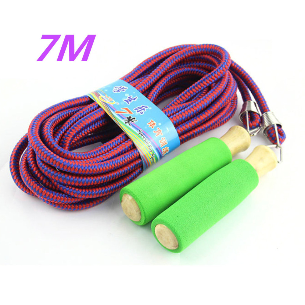 7M Jumping Rope Group Skip Rope Outdoor Sports Long Skip Rope Adult Children Crossfit Fitness Equipment - Color Random skipping rope