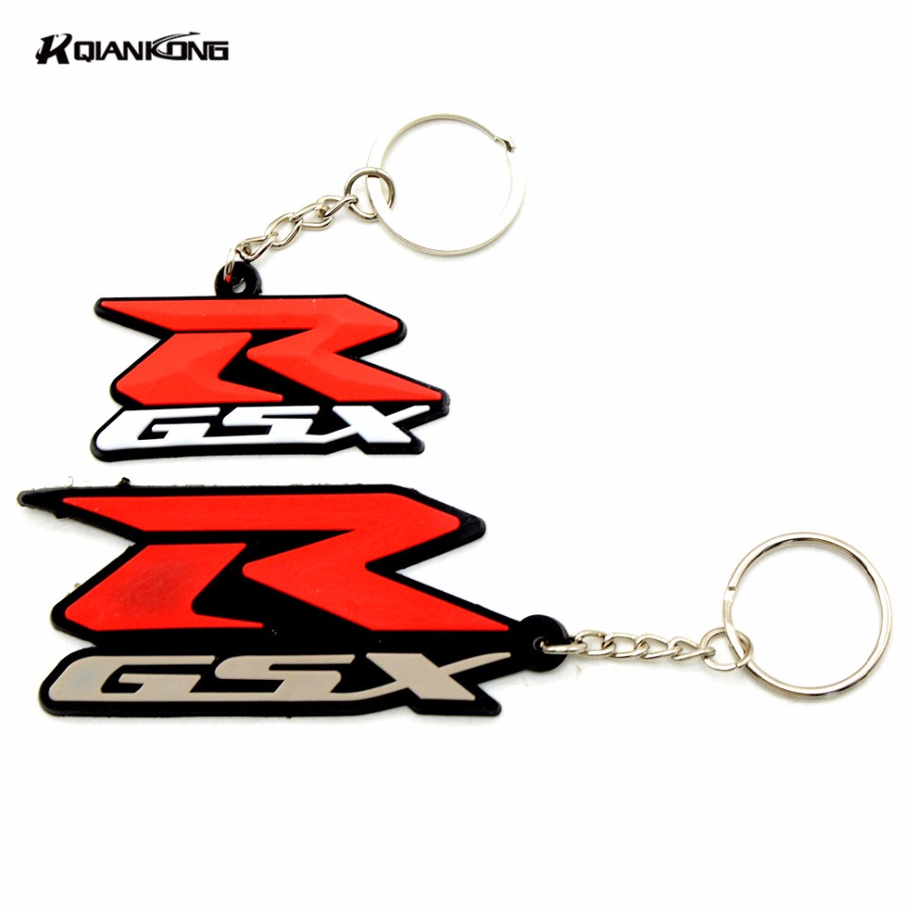 3D Motorcycle Accessories Motorcycle KeyChain Rubber Motorcycle Key Chain For SUZUKI GSXR All Model GSXR600 GSXR750 GSXR10000