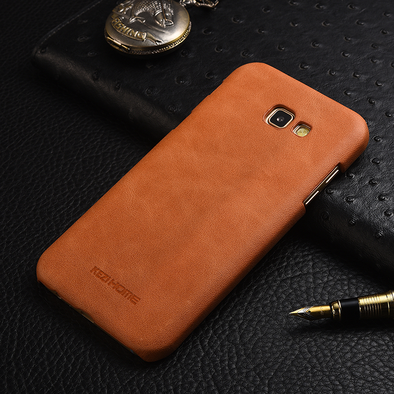 meet 023f2 69857 US $5.89 45% OFF|KEZiHOME Frosted Genuine Leather Hard Back Cover capa For  Samsung Galaxy A3 2017 / A5 2017 / A7 2017 Protector cases coque-in ...
