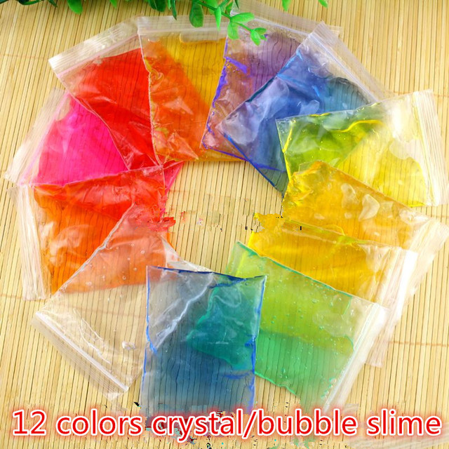 12 colors crystal slime clay kinetic non toxic playdough handgum 12 colors crystal slime clay kinetic non toxic playdough handgum smooth jelly make rainbow diy ccuart Image collections