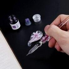 Handmade Glass Calligraphy Pen Set