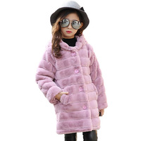 The Child Of 2017 Girls In The New Winter Fashionable Color Thick Warm Hooded Long Wool