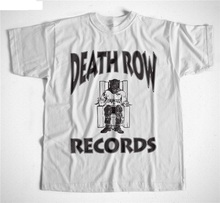 Chinese Style  Comfort Soft Men O-Neck Death Row Records Short Sleeve Shirt