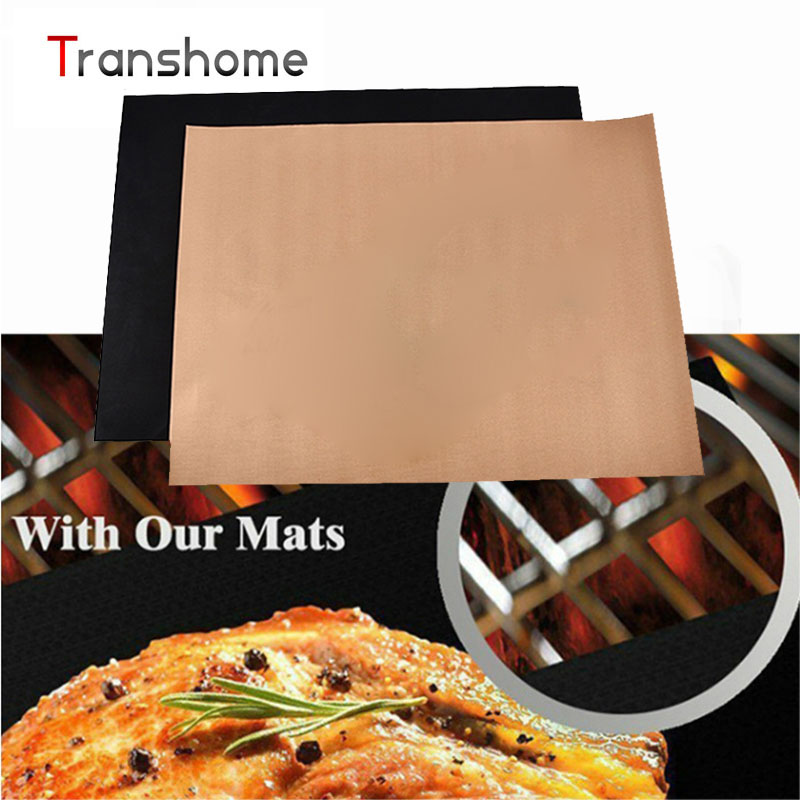 Teflon BBQ Grill Mats Meshes For Churrasco Barbecue Grill BBQ Tools Sheet Cooking Tools Baking Mats Kitchen Accessories