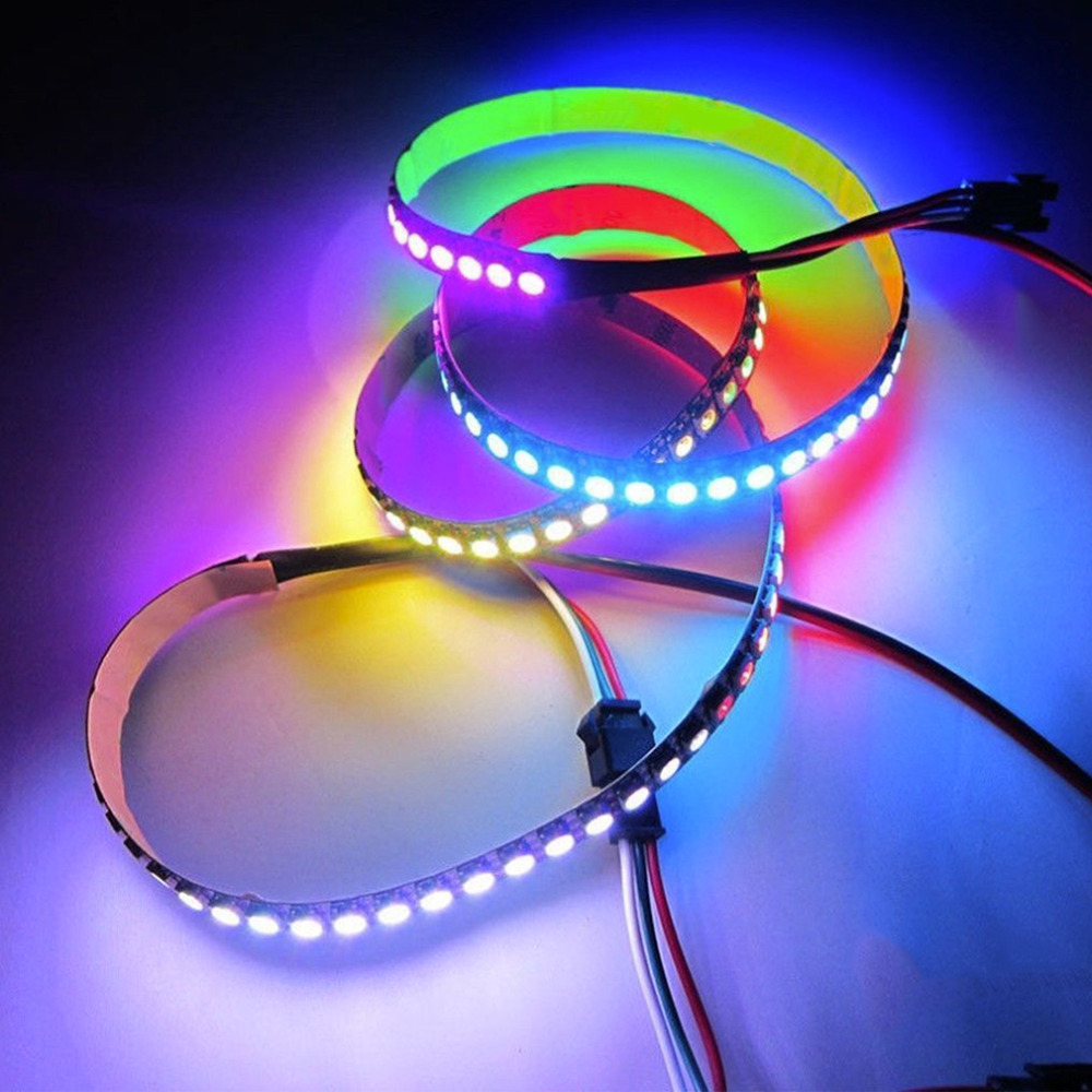 1M 60LED WS2812B 5050 RGB LED Strip Light Waterproof Addressable Black Shell New Arrival Brand New
