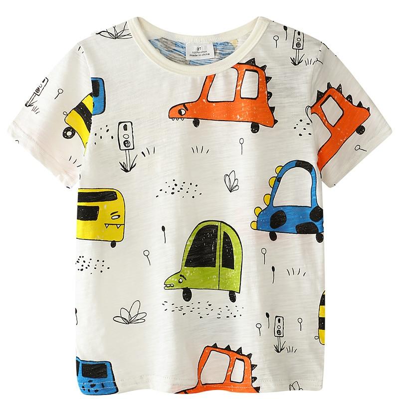 Chłopięce T-shirty dla dzieci 2018 Krótkie rękawiczki Letnie - Ubrania dziecięce - Zdjęcie 1