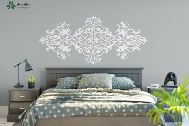 Vintage Headboard Wall Decal Baroque Style Design Mandala Flower ...