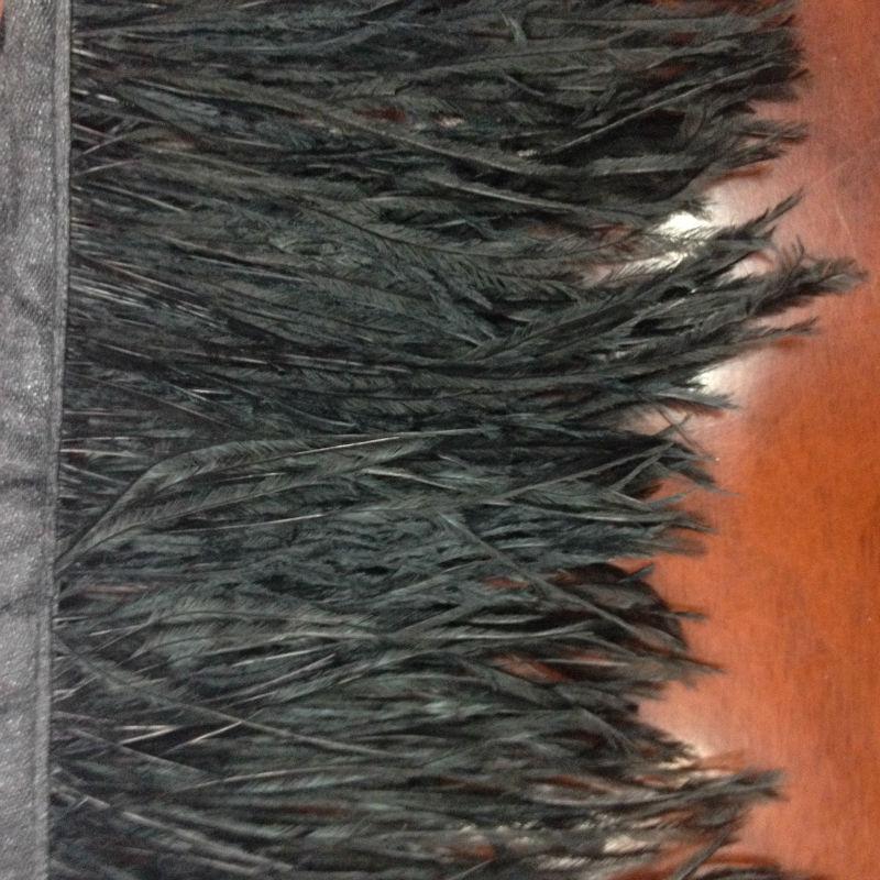 Doprava zdarma 10-12cm / 4-5inch 10 metrů pštrosí pírko stuhy pštrosí pírko Černá dekorativní kutilství