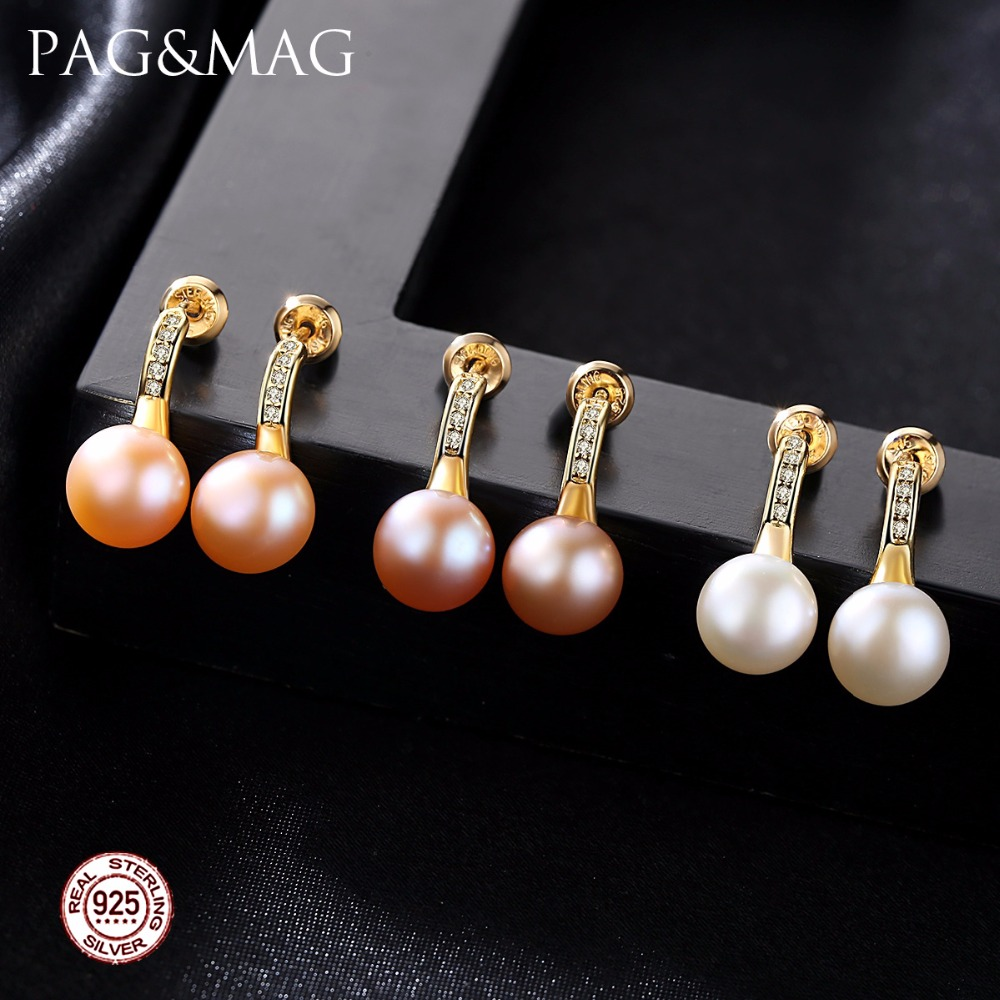 PAG&MAG Brand Classic Small Stud Earrings for Girls Daily Wear ...