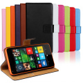 Real Genuine Flip Leather Wallet Case For Microsoft Lumia 640 With Stand Function & Card Holders