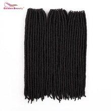 Золотой Красота 18 дюймов прямые синтетические волосы богиня искусственные локоны в стиле Crochet косы натуральные синтетические волосы для наращивания 18 стойки/уп термостойкие