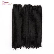 Golden Beauty 18inch Straight Goddess Faux Locs Crochet Braids Natural Synthetic Hair Extension 18stands/Pack Heat Resistant(China)