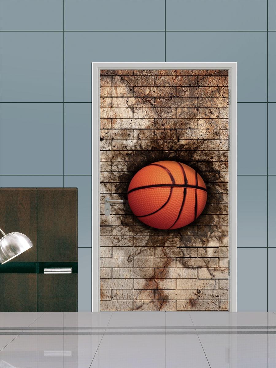 funlife Imitation 3d Three dimensional Brick Basketball Door Sticker Decorative Wall Art Poster diy Wall Stickers-in Wall Stickers from Home \u0026 Garden on ... & funlife Imitation 3d Three dimensional Brick Basketball Door Sticker ...
