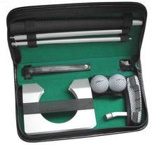 Taşınabilir Seyahat Kapalı golf vuruş Uygulama Kiti Topu Alüminyum Alaşım golf vuruş Eğitim Seti