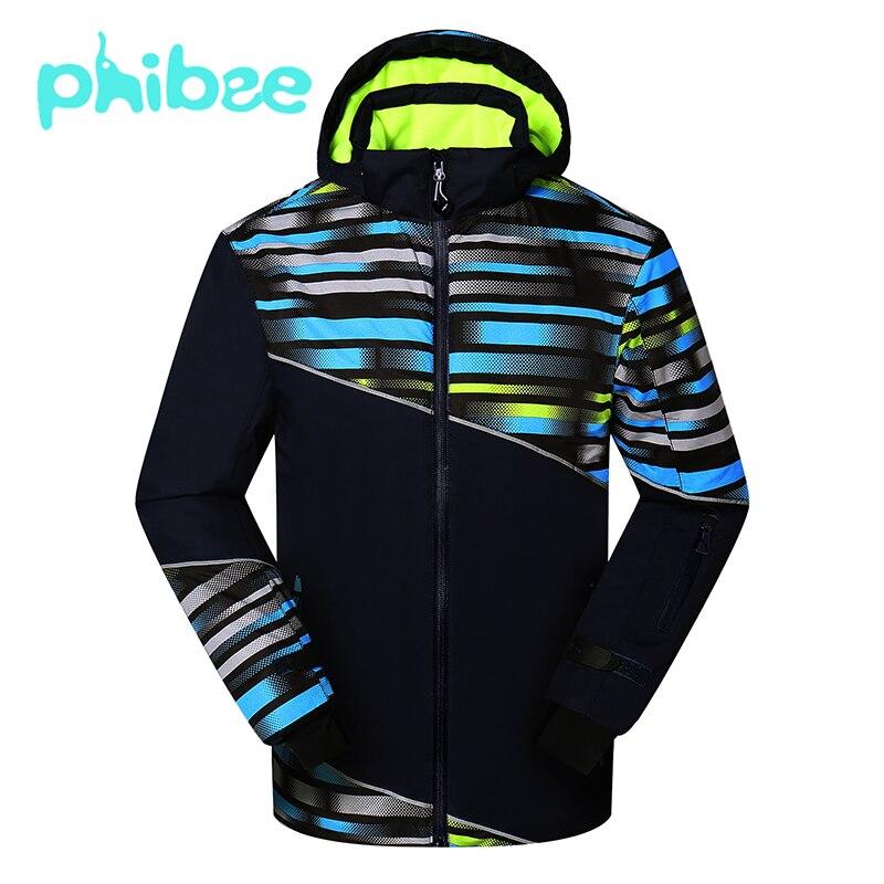 Phibee Boys Winter Jacket Skiing Jackets Outdoor Warm Coat Waterproof Windproof Breathable Kids Clothes