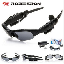 ROBESBON Polarized Bluetooth Headset Sunglasses Cycling Eyewear Glasses Wireless Stereo Music Headphone Mic Handfree Earphone