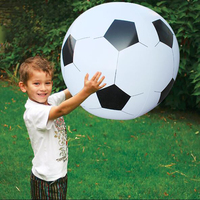75cm Inflatable Super Football Beach Ball Soccer Volleyball Children Outdoor Sports Island Water Toys Adults Garden Party Supply
