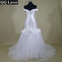 QQ Lover 2017 Plus Size Wedding Dress Beaded Vestido De Noiva Casamento Mermaid African Wedding Dresses Train Cheap Bridal Gowns
