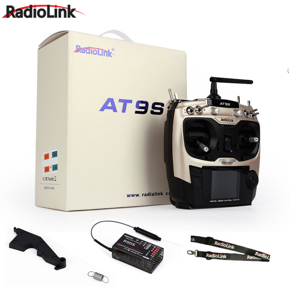 Promotion!! Radiolink AT9 S AT9S R9DS Radio Remote Control System DSSS FHSS 2.4G 10CH Transmitter Receiver radiolink at9 2 4 ghz 9 channel remote control radio transmitter and receiver for rc hobby
