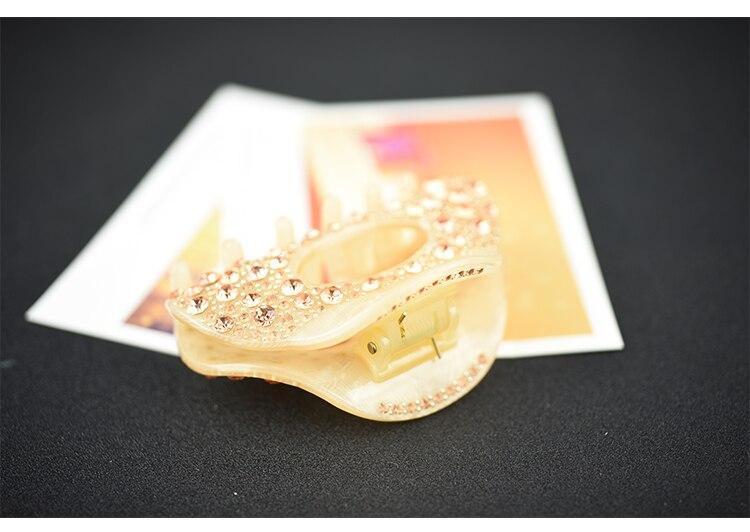 Luxo Oco Cristal Garra Cabelo De Acetato De Celulose