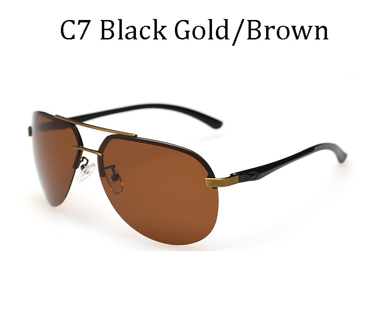 2017 Luxury Brands Classi Aviator HD Polarized Men women Driver Mirror sunglasses Polaroid Rimless sunglasses Top quality UV400