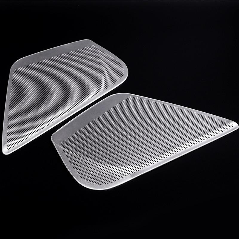 2pcs Aluminum Alloy Car Side Front Door Audio Speaker Cover Trim For Audi A6 Car Accessories