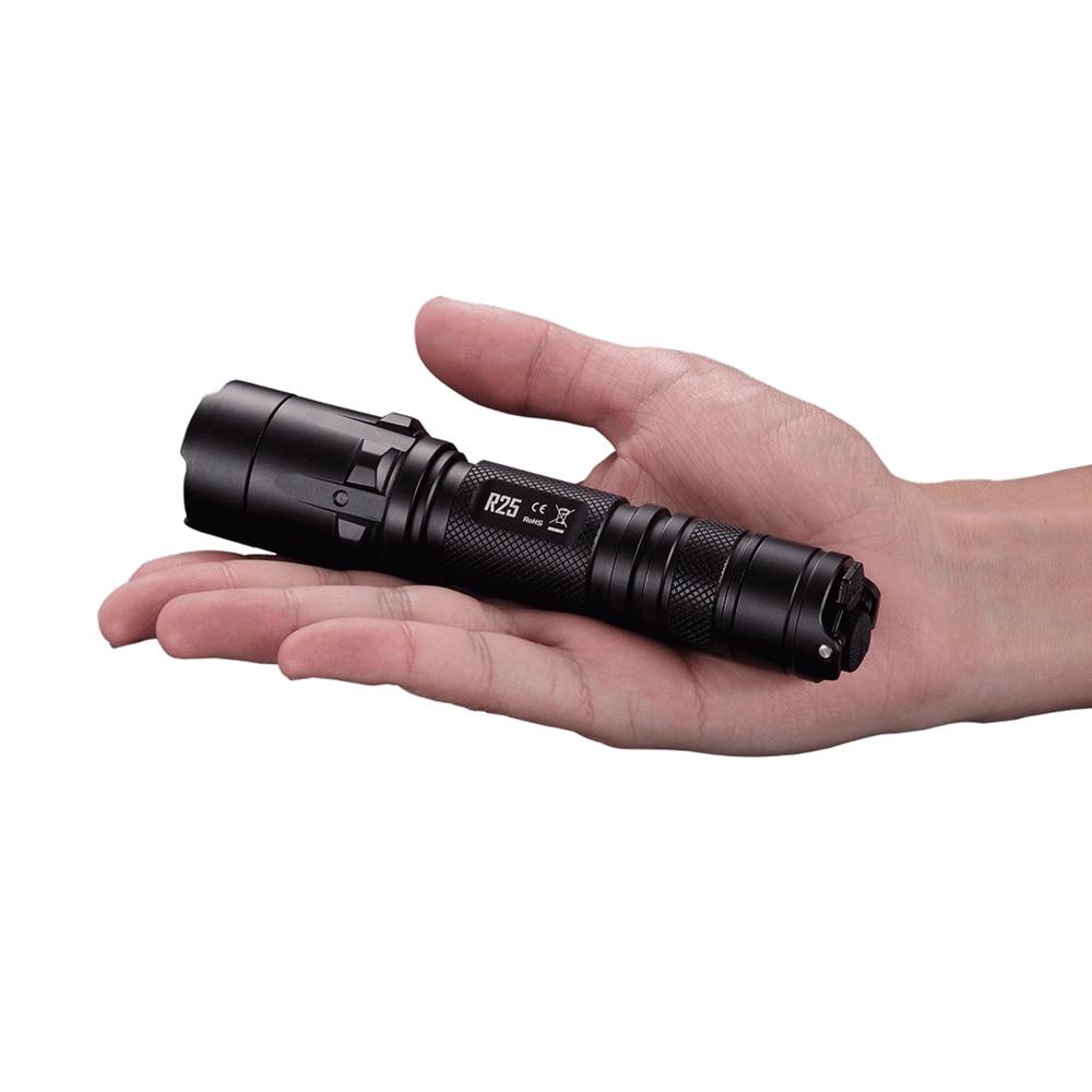 Nitecore R25 Flashlight XP-L HI V3 White light STROBE READY 800 lumens torch Not Battery nitecore mh25gt 1000lm cree xp l hi v3 led rechargeable flashlight torch