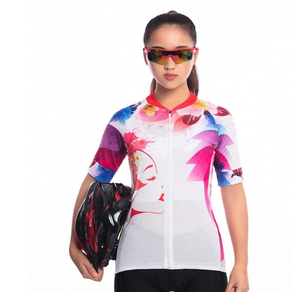 FUALRNY Bicycle Short-Sleeve Mountain-Bike-Clothing Women Man Felicia Pro-Team Ropa-Ciclismo