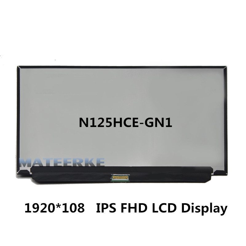 12.5'' inch IPS FHD LCD Display Panel Screen 1920*1080 N125HCE-GN1 industrial display lcd screenb101uan02 1 10 1 inch high definition screen ips wide viewing angle bright screen 1920x1200 fhd