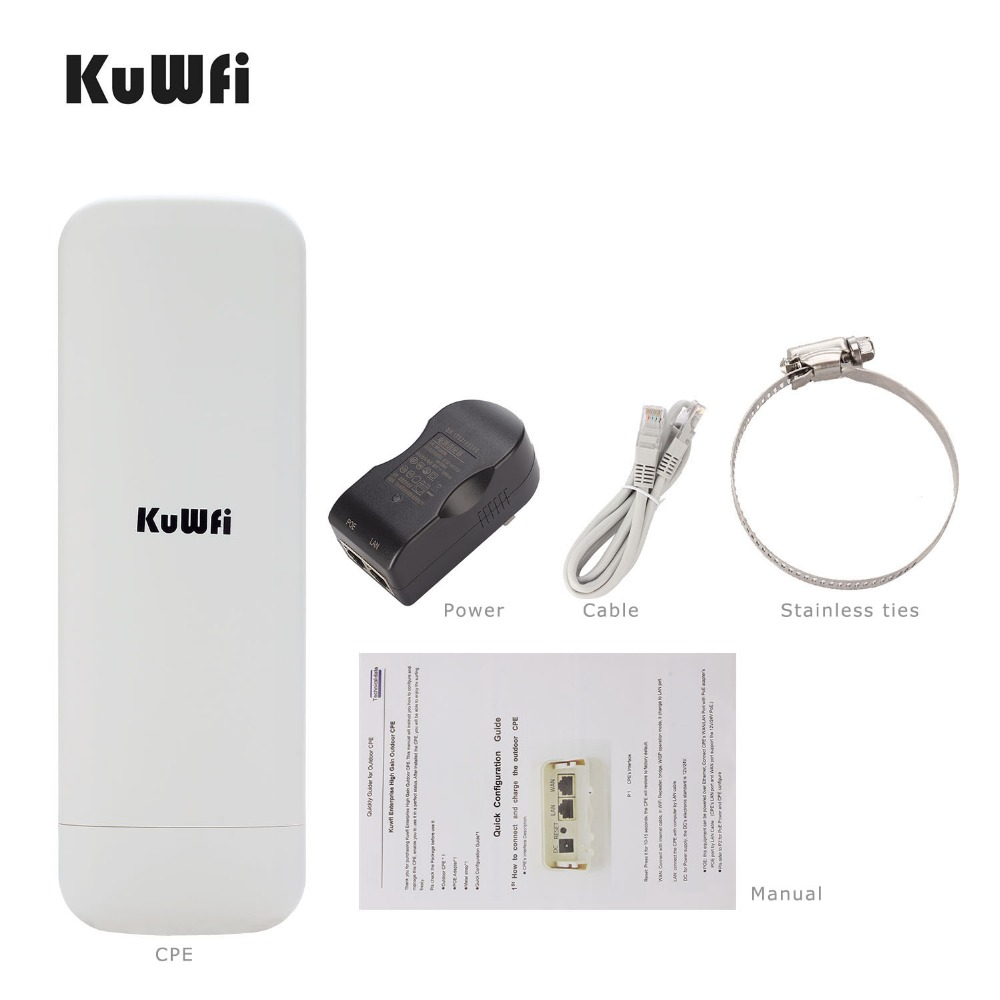 US $64 16 50% OFF Kuwfi 900Mbps 5 8G Wireless CPE Router Outdoor Wireless  Bridge Long Range 3 5KM WIFI Repeater WIFI Extender System for IP Camera on
