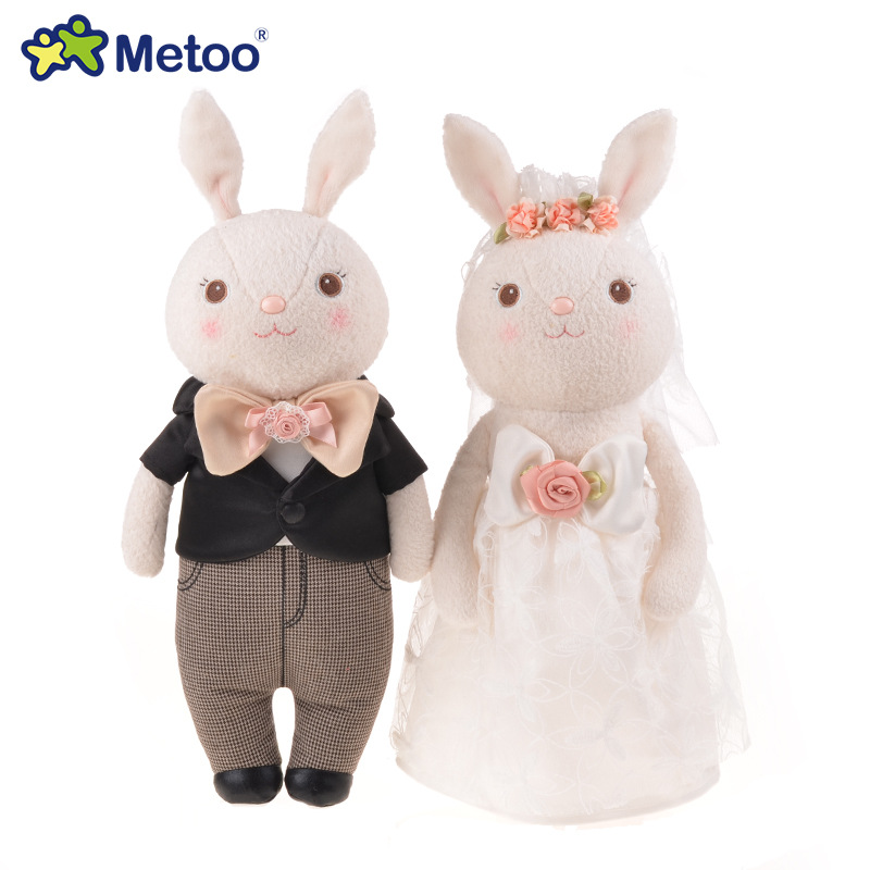 Metoo baby doll creative soft plush toys wedding Angela plush toy doll tall 38cm lovely cute angela for hotel wedding gift mini kawaii plush stuffed animal cartoon kids toys for girls children baby birthday christmas gift angela rabbit metoo doll