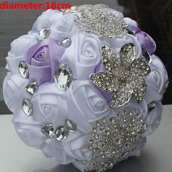 Новое Прибытие Кристалл Брошь Букет аксессуары искусственный Свадебные цветы Свадебные Букеты