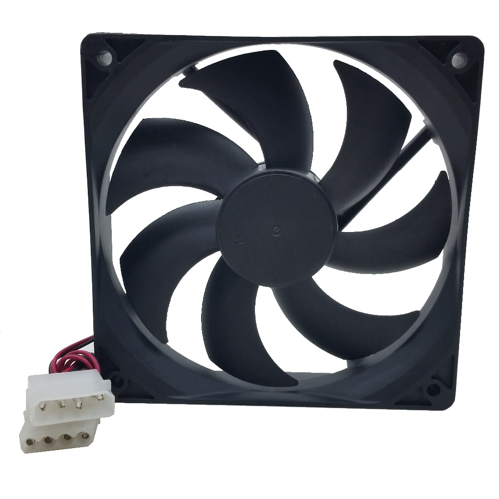 Купить с кэшбэком PC Computer Case 12025s 12cm 120mm 120x25mm DC 12V black 4Pin male/female Cooling Fan