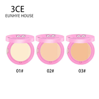 3CE Eunhye House Brand Pressed Mineral Powder Cosmetics Long Lasting Brightening Whitening Contouring Makeup Face Powder