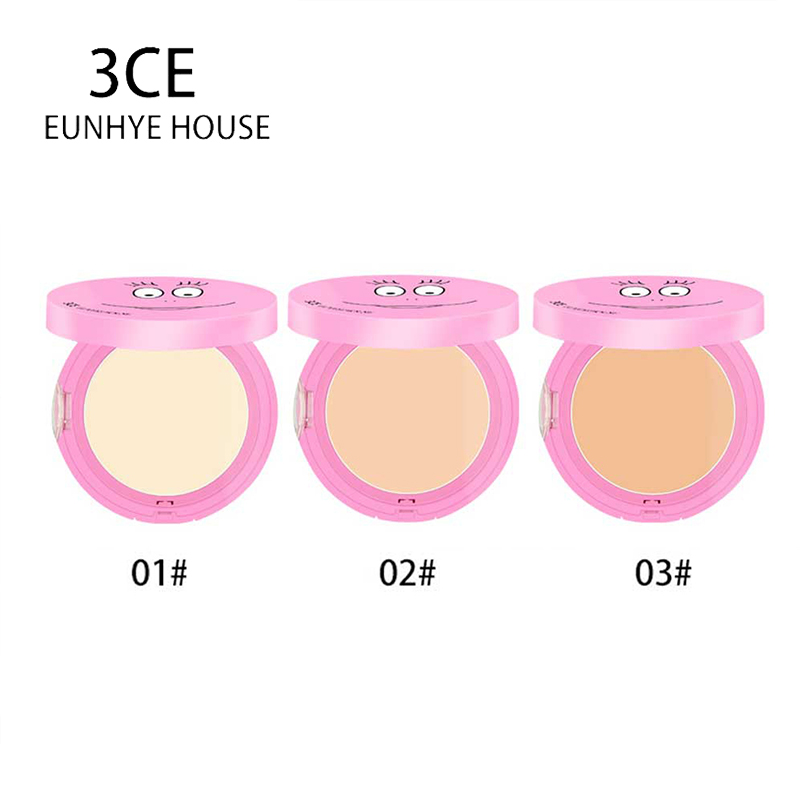 3CE Eunhye House Brand Pressed Mineral Powder Cosmetics Long Lasting Brightening Whitening <font><b>Contouring</b></font> Makeup Face Powder Palette