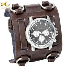 Lancardo Punk Retro Tachymetre Wide Strap Watches Men Punk Watch Leather Bracelet Quartz Wrist Watch For Men Women Gifts Clock