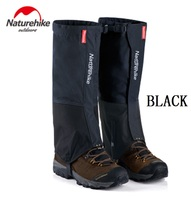 Naturehike Black Waterproof Gaiters For Men And Women Leg Warmers For Hiking Cycling
