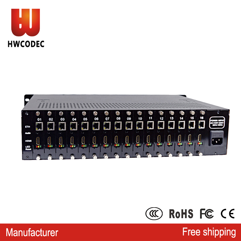 HWCODEC H.264 h264 16 channel HDMI HD video encoder 1080p MPEG4 Encoder for iptv streaming rack server providers video encoderHWCODEC H.264 h264 16 channel HDMI HD video encoder 1080p MPEG4 Encoder for iptv streaming rack server providers video encoder