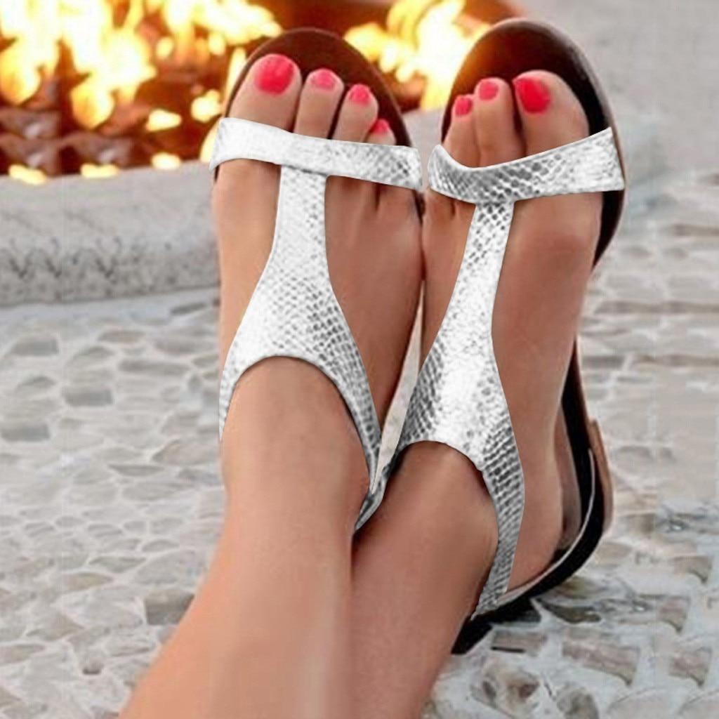 2019 Niedrigen Ferse Sandalen Für Frauen Offene Spitze Atmungs Strand Schnalle Sandalen Rom Beiläufige Flache Schuhe Weibliche Sandale Femme @ A20