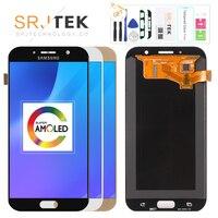 Оригинальный 5,7 ''Super AMOLED ЖК дисплей для SAMSUNG Galaxy A7 2017 ЖК дисплей Дисплей A720 A720F A720M A720Y Сенсорный экран планшета замена