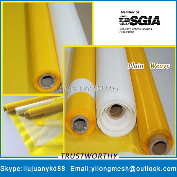 80mesh/32T 100um 145cm white 30meters Free Shipping Polyester Screen Printing Material