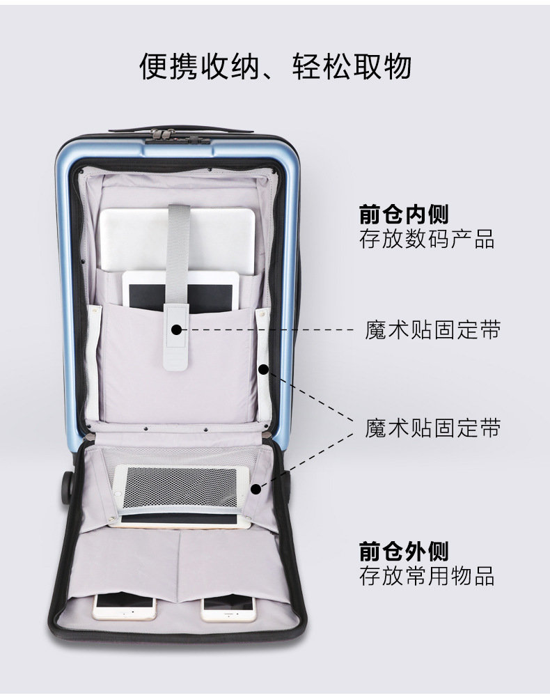 Casual Travel Trolley Luggage Aluminum Frame Alloy Business Rolling Luggage Airplane Suitcase Spinner Wheels 20inch (6)