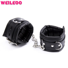 Spongy thickening hand cuffs bdsm sex handcuffs for sex bdsm bondage set restraint fetish slave game adult sex toy for couple